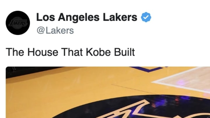 The Los Angeles Lakers honor Kobe Bryant at Staples Center