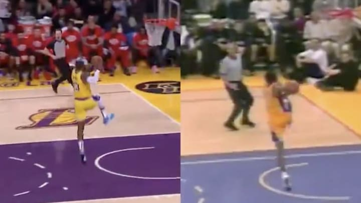 Video Lebron James Dunk Thursday Was Eerily Similar To Old Kobe Bryant Highlight