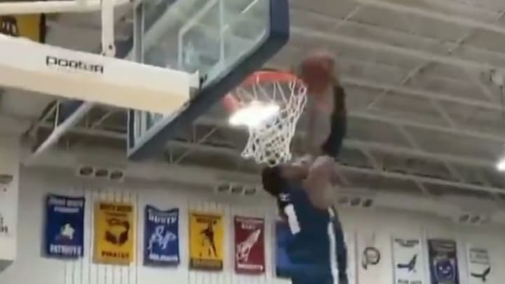 Bronny James hammered home the same reverse slam as his father, LeBron, and Kobe Bryant