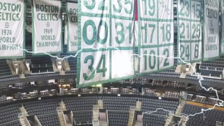 Kevin Garnett's No. 5 will be the newest hanging from the rafters at Boston's TD Garden next season