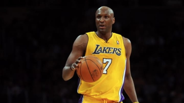 Former Los Angeles Lakers forward Lamar Odom