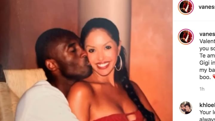 Vanessa Bryant had a heartbreaking post for her husband Kobe on Valentine's Day