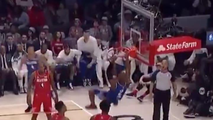 Oklahoma City Thunder point guard Chris Paul can dunk