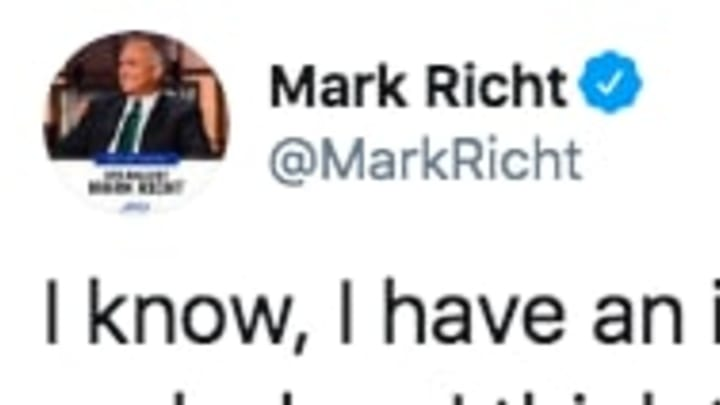 Current TV analyst Mark Richt had a bizarre tweet about the new proposed NCAA transfer rule.