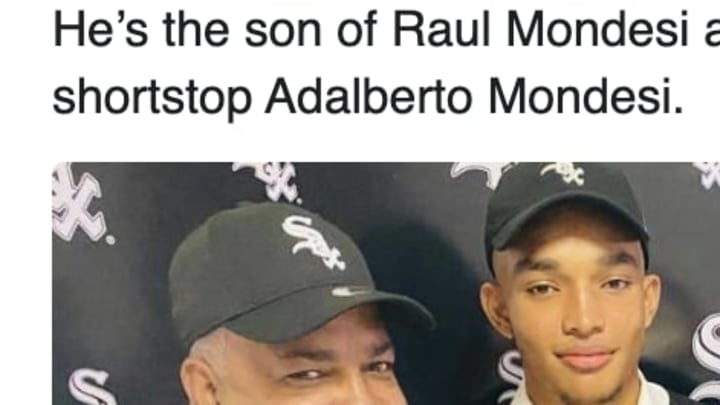 The Chicago White Sox have reportedly signed the son of Raul Mondesi.