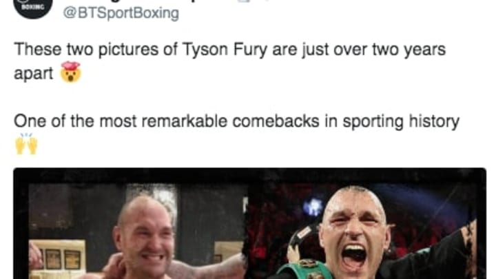 Tyson Fury has overcome tremendous adversity to get to the top of the boxing world