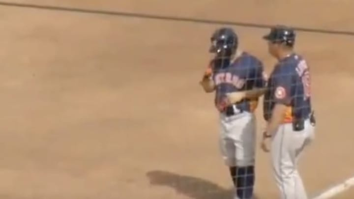 Houston Astros star Jose Altuve got hit by a pitch in the foot