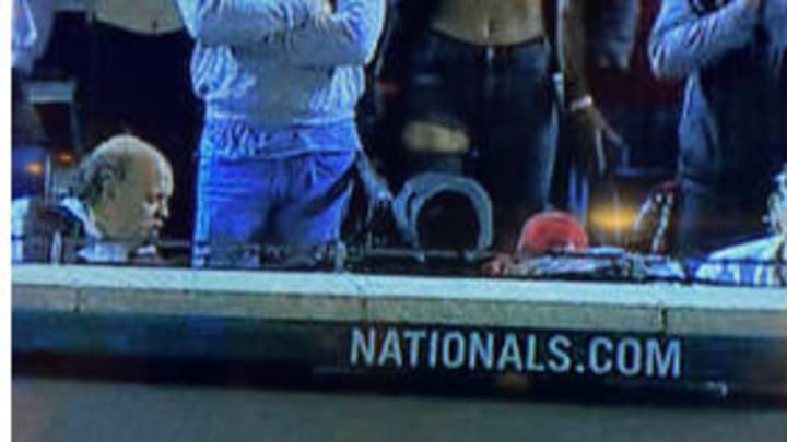 Nationals fans spotted flashing Gerrit Cole behind home plate of World Series Game 5.