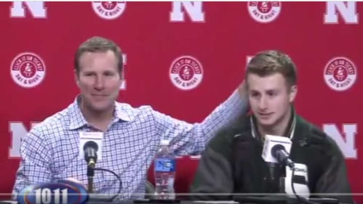 Fred Hoiberg and Jack Hoiberg after the Nebraska - Michigan State game.