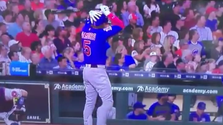 An Albert Almora Jr. foul ball struck a small child at Minute Maid Park on Wednesday.