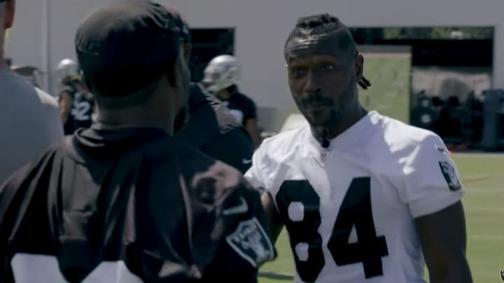 Antonio Brown was mic'd up during Oakland Raiders minicamp, giving everyone a 'Hard Knocks' preview.
