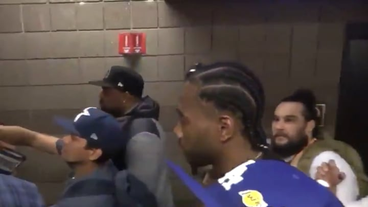 Kawhi Leonard was unfazed by heckling Lakers fans at Manny Pacquiao-Keith Thurman fight on Saturday.
