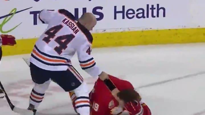 Zack Kassian laid a vicious beatdown on Matthew Tkachuck following a rough hit.