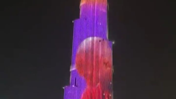 The Burj Khalifa was lit up in honor of Kobe and Gianna Bryant.