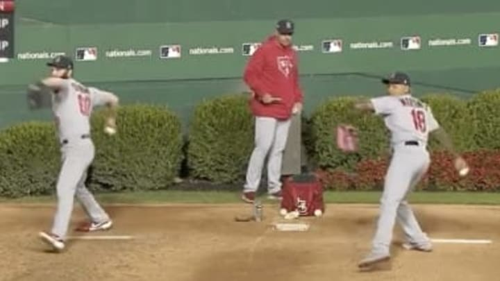 Cardinals relievers are in perfect sync during Game 4 of the NLCS.