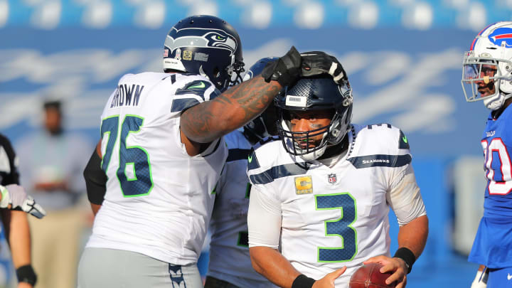 Russell Wilson and Duane Brown