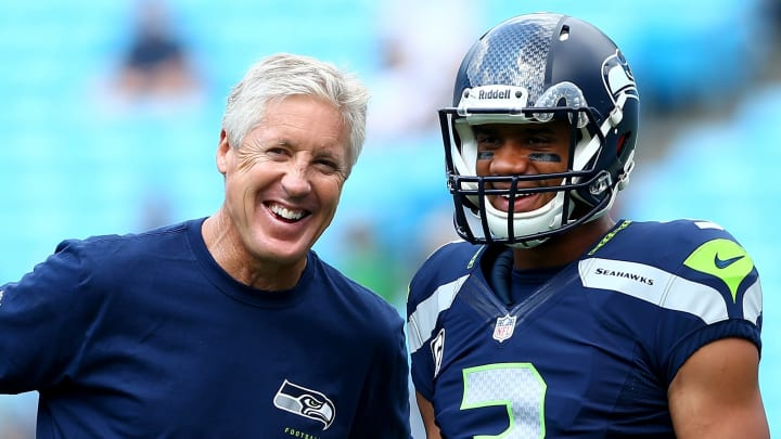 Pete Carroll and Russell Wilson.