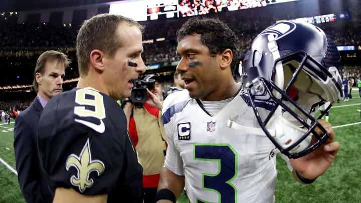 Drew Brees and Russell Wilson