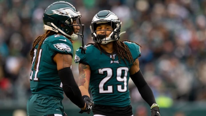 Avonte Maddox and Ronald Darby in a game agains the Seattle Seahawks.