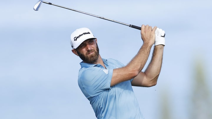 Dustin Johnson at the Sentry Tournament Of Champions - Round Two.