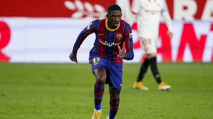 Ousmane Dembélé hat nun 100 Pflichtspiel-Einsätze für Barça absolviert