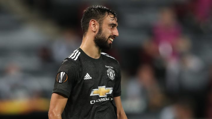 Bruno Fernandes shows his frustration on the pitch