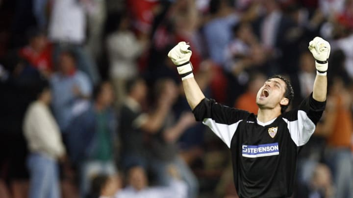 Sevilla's Spanish goalkeeper Andres Palo
