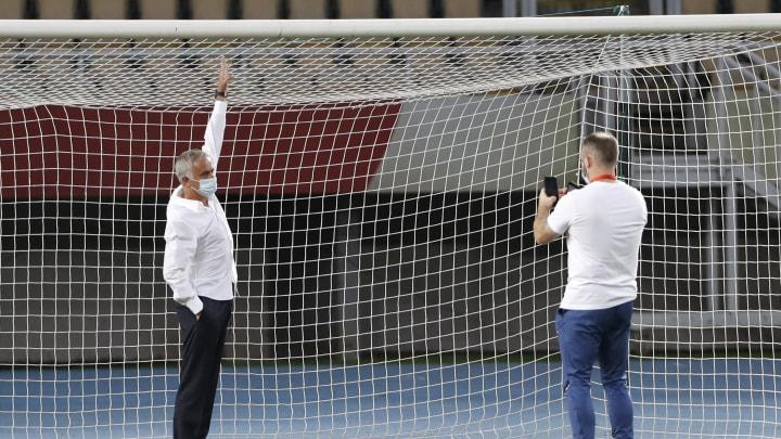 Vor dem Spiel machte Jose Mourinho eine seltsame Entdeckung