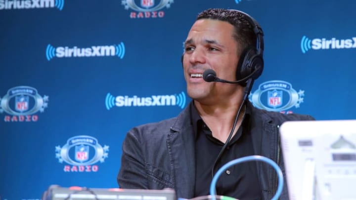 BLOOMINGTON, MN - FEBRUARY 01: Former NFL player Tony Gonzalez attends SiriusXM at Super Bowl LII Radio Row at the Mall of America on February 1, 2018 in Bloomington, Minnesota.  (Photo by Cindy Ord/Getty Images for SiriusXM)