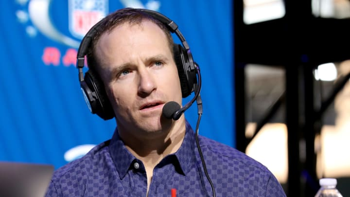 Drew Brees wondering why he shaved his hair.