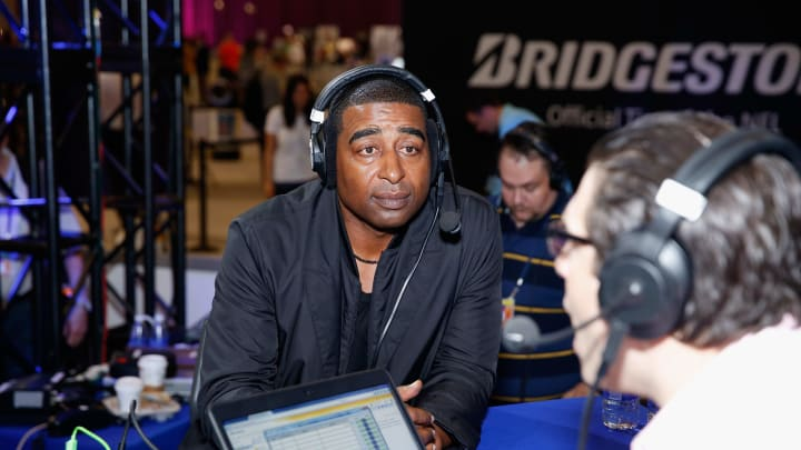 PHOENIX, AZ - JANUARY 30:  Former NFL player Cris Carter attends SiriusXM at Super Bowl XLIX Radio Row at the Phoenix Convention Center on January 30, 2015 in Phoenix, Arizona.  (Photo by Cindy Ord/Getty Images for SiriusXM)