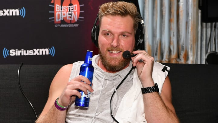 "NEW YORK, NY - APRIL 06:  Pat McAfee attends SiriusXM's ""Busted Open"" celebrating 10th Anniversary In New York City on the eve of WrestleMania 35 on April 6, 2019 in New York City.  (Photo by Slaven Vlasic/Getty Images for SiriusXM)"