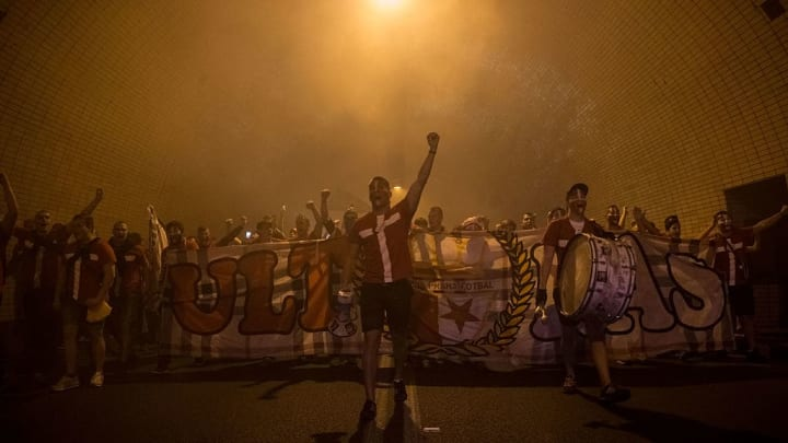 Slavia Prague Fans March For Derby With Sparta