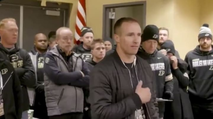 Video Purdue Wins After Inspiration From Drew Brees