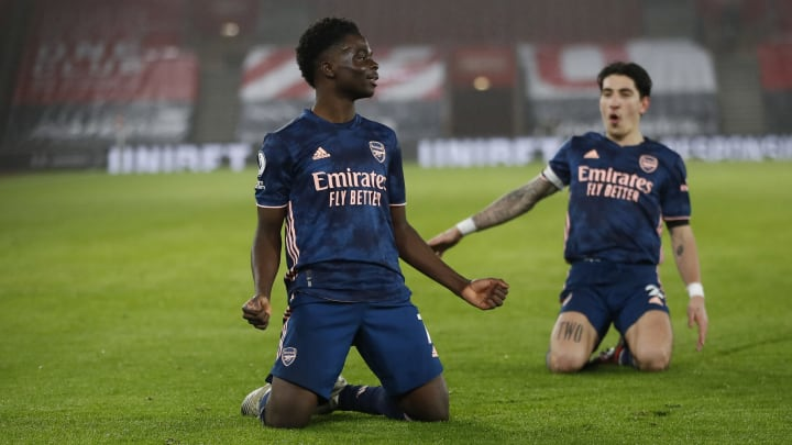 Bukayo Saka had another excellent game for the Gunners