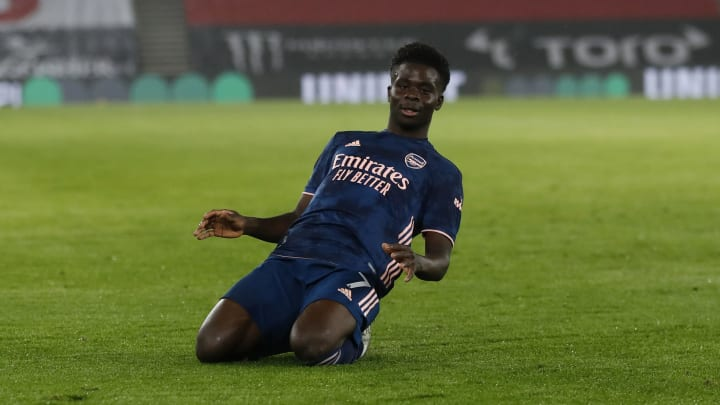 Bukayo Saka scored in Arsenal's win over Southampton