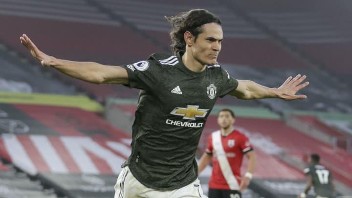 Edinson Cavani scored twice against Southampton in November