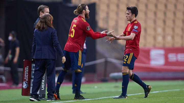 Wurde gegen den Kosovo drei Minuten vor Spielende für Eric Garcia eingewechselt: Sergio Ramos