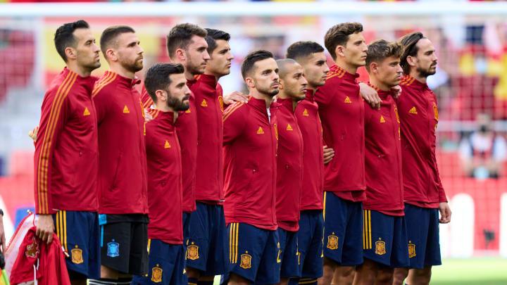 España en el amistoso que le enfrentó a Portugal