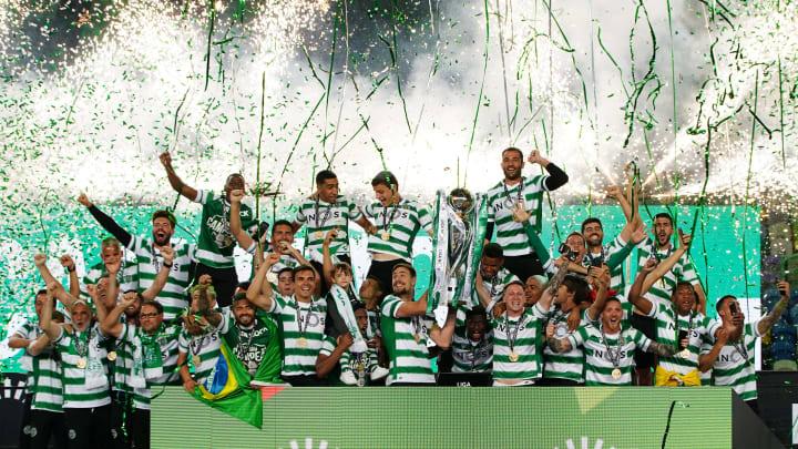 La festa dello Sporting dopo il titolo