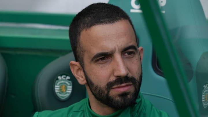 Ruben Amorim qui apparaît sous les couleurs du Sporting Lisbonne pour la première fois.