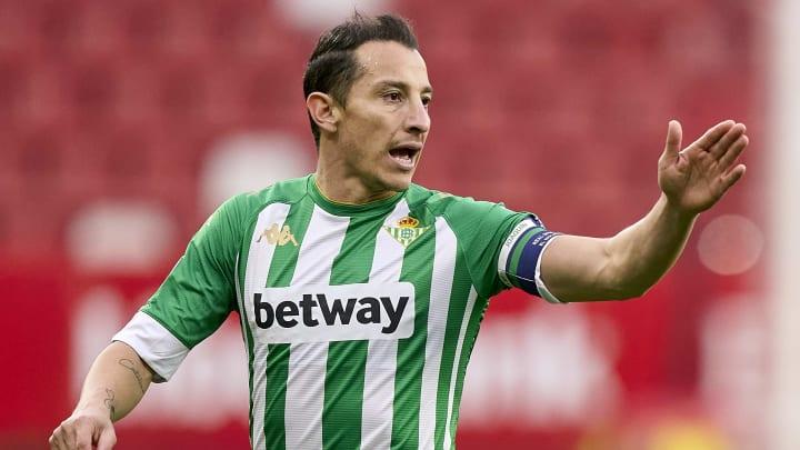 El mediocampista mexicano del Real Betis Andrés Guardado.