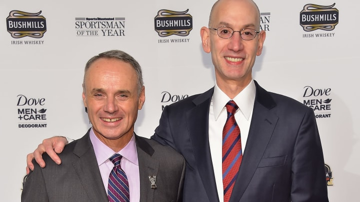 Rob Manfred and Adam Silver