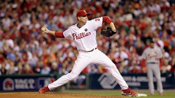 Former Philadelphia Phillies pitcher Roy Halladay is an MLB postseason legend.