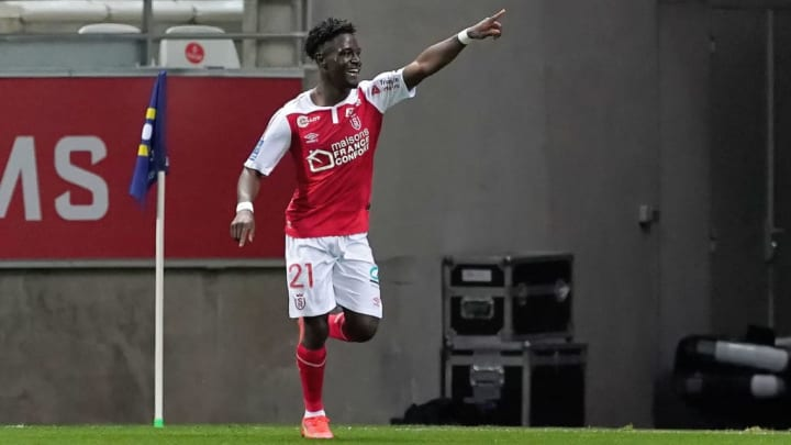 Nathanael Mbuku Reims PSG França Ligue 1