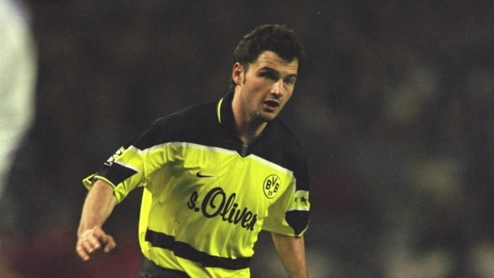 Stephane Chapuisat of Switzerland and Borussia Dortmund in action