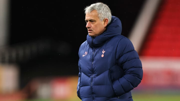 Mourinho during Tottenham's Carabao Cup quarter final at Stoke