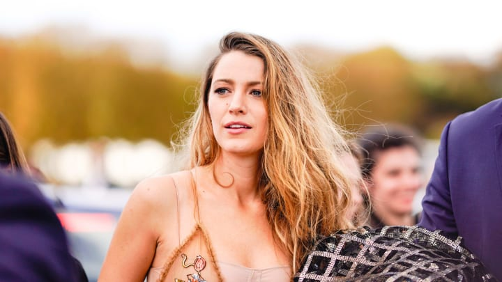 PARIS, FRANCE - SEPTEMBER 24:  Blake Lively is seen, outside Dior, during Paris Fashion Week Womenswear Spring/Summer 2019, on September 24, 2018 in Paris, France.  (Photo by Edward Berthelot/Getty Images)