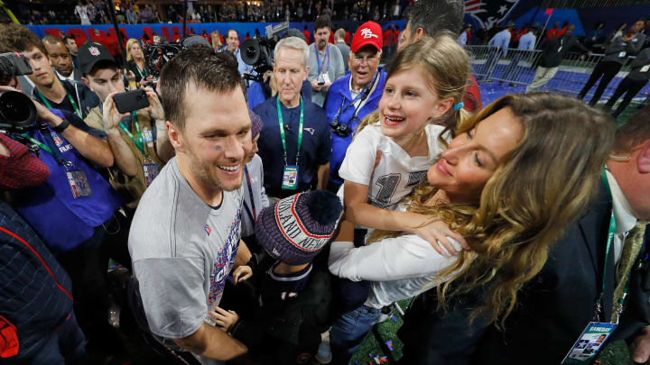 Tom Brady and his family