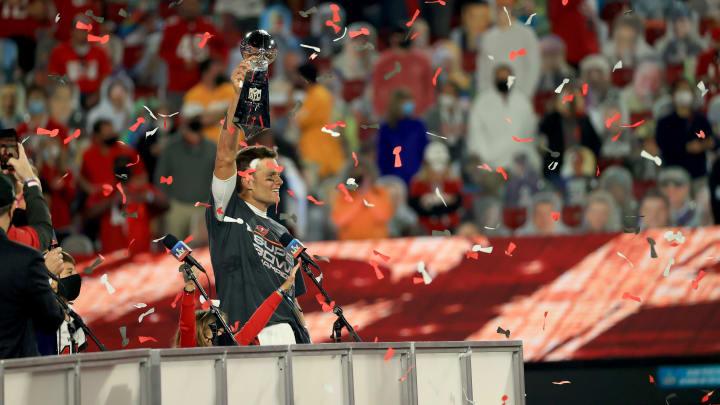 Tom Brady after Super Bowl LV.